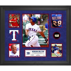 Adrian Beltre Texas Rangers Framed 5-Photograph Collage with Piece of Game-Used Ball