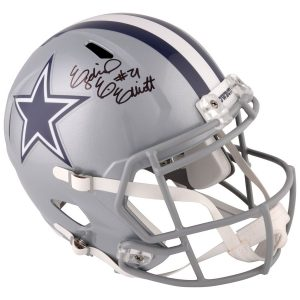 Autographed Dallas Cowboys Ezekiel Elliott Fanatics Authentic Riddell Speed Replica Helmet