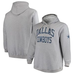 Dallas Cowboys Mitchell & Ness Big & Tall Playoff Win Pullover Hoodie