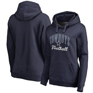 Dallas Cowboys NFL Pro Line Women's Victory Script Pullover Hoodie