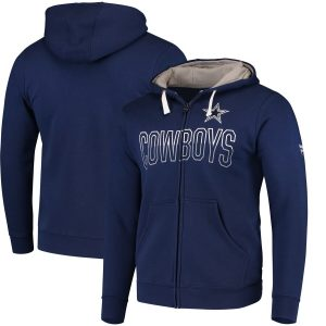 Dallas Cowboys Iconic Fleece Full-Zip Hoodie – Navy