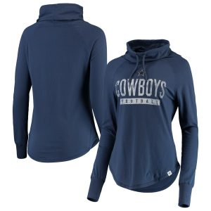 Dallas Cowboys Women's Be a Pro Cowl Neck Raglan Pullover Sweatshirt