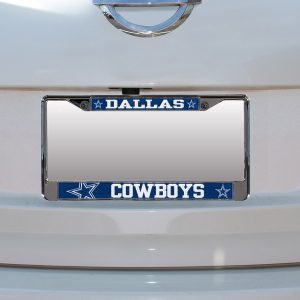 Dallas Cowboys Small Over Large Mega License Plate Frame