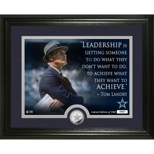 Dallas Cowboys Tom Landry Highland Mint Quote Photomint