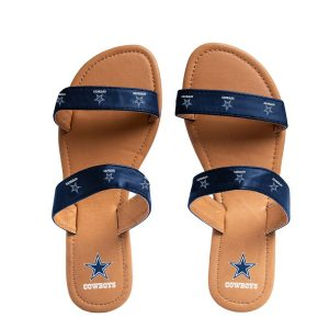 Dallas Cowboys Women's Double-Strap Sandals