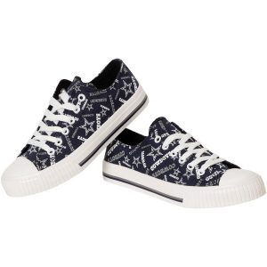 Dallas Cowboys Women's Repeat Print Low Top Sneakers