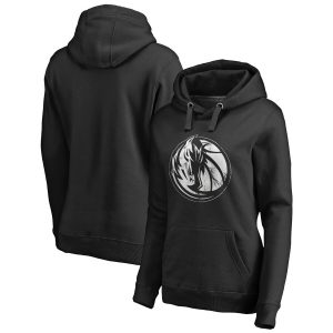 Dallas Mavericks Fanatics Branded Women's Marble Logo Pullover Hoodie