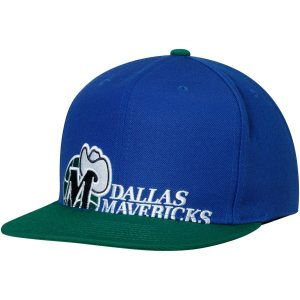 Dallas Mavericks Mitchell & Ness Hardwood Classics Cropped XL Logo Snapback Adjustable Hat