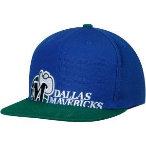 Dallas Mavericks Mitchell & Ness Hardwood Classics Cropped XL Logo Snapback Adjustable Hat