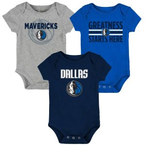 Dallas Mavericks Newborn & Infant Three-Pack Bodysuit Set