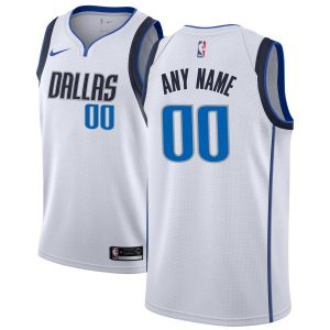 Dallas Mavericks Nike Custom Swingman Jersey White
