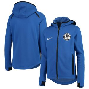 Dallas Mavericks Nike Youth Showtime Performance Full-Zip Hoodie – Blue