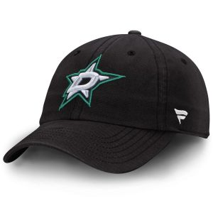 Dallas Stars Black Fundamental Adjustable Hat
