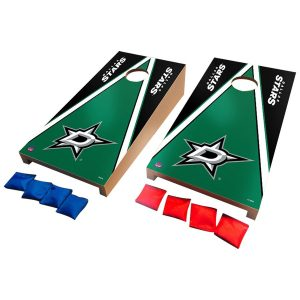 Dallas Stars Desktop Triangle Cornhole Game Set