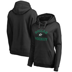 Dallas Stars Women's Black Overtime Pullover Hoodie