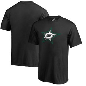 Dallas Stars Youth Black Primary Logo T-Shirt
