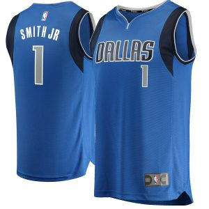 Dennis Smith Dallas Mavericks Fanatics Branded Fast Break Replica Jersey Blue – Icon Edition