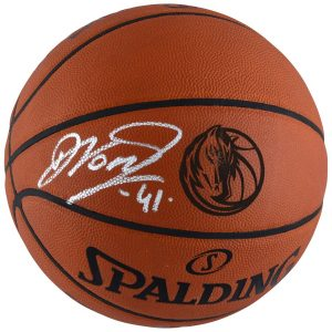 Dirk Nowitzki Dallas Mavericks Autographed Spalding Laser Engraved Game Basketball