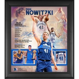 Dirk Nowitzki Dallas Mavericks Fanatics Authentic Framed 15″ x 17″ Retirement Collage
