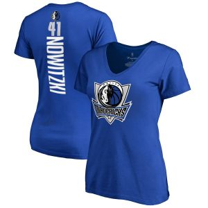 Dirk Nowitzki Dallas Mavericks Women's Backer T-Shirt – Royal