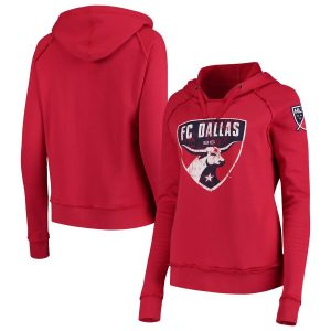 FC Dallas 5th & Ocean by New Era Women's Brushed Fleece Pullover Hoodie – Red