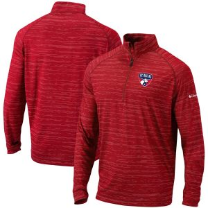 FC Dallas Columbia Approach Raglan Quarter-Zip Pullover Jacket – Red