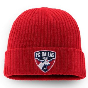 FC Dallas Fanatics Branded Core Cuffed Knit Hat – Red
