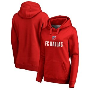 FC Dallas Fanatics Branded Women's Shielded Pullover Hoodie – Red
