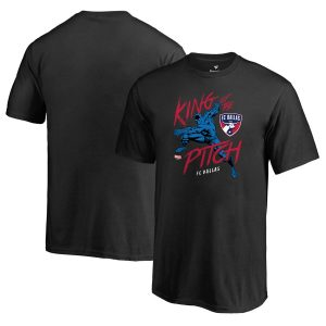 FC Dallas Fanatics Branded Youth MLS Marvel Black Panther King of the Pitch T-Shirt – Black