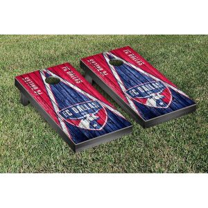 FC Dallas Weathered Triangle Cornhole Game Set