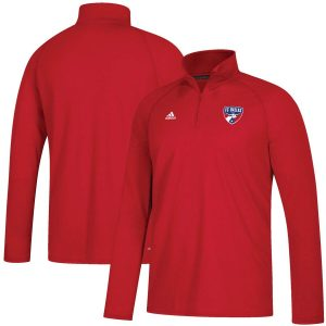 FC Dallas adidas LC Logo Set Ultimate Quarter-Zip Pullover Jacket – Red