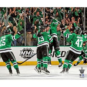John Klingberg Dallas Stars Unsigned 2019 Stanley Cup Playoffs Game-Winning Goal Photograph