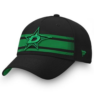 Fanatics Branded Dallas Stars Black/Kelly Green Iconic Stripe Speed Flex Hat