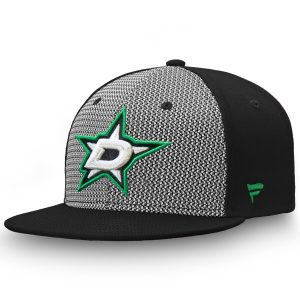 Fanatics Branded Dallas Stars Gray/Black Versalux Fitted Hat