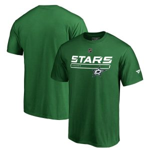 Fanatics Branded Dallas Stars Kelly Green Authentic Pro Rinkside Collection Prime T-Shirt