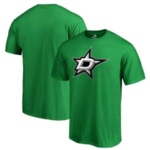 Fanatics Branded Dallas Stars Kelly Green Primary Logo T-Shirt