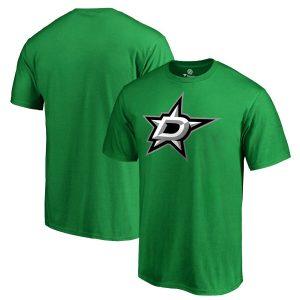 Fanatics Branded Dallas Stars Kelly Green Primary Logo T-Shirt