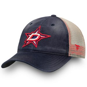 Fanatics Branded Dallas Stars Navy/Khaki Americana Trucker Snapback Adjustable Hat