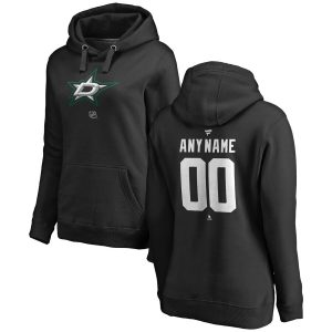 Fanatics Branded Dallas Stars Women's Black Personalized Team Authentic Pullover Hoodie