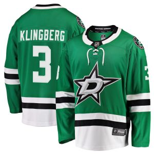 Fanatics Branded John Klingberg Dallas Stars Kelly Green Breakaway Jersey