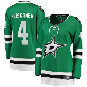 Miro Heiskanen Dallas Stars Women's Kelly Green Home Breakaway Player Jersey