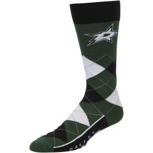 For Bare Feet Dallas Stars Argyle Crew Socks