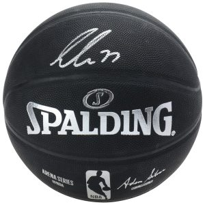 Luka Doncic Dallas Mavericks Autographed Black Spalding Indoor Outdoor Basketball