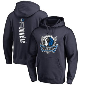Luka Doncic Dallas Mavericks Fanatics Branded Backer Big & Tall Pullover Hoodie – Navy