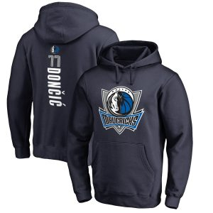 Luka Doncic Dallas Mavericks Fanatics Branded Backer Pullover Hoodie – Navy