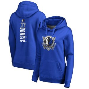 Luka Doncic Dallas Mavericks Women's Team Backer Name & Number Pullover Hoodie