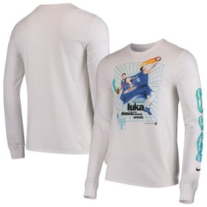 Luka Doncic Dallas Mavericks Nike Time Warp Long Sleeve T-Shirt