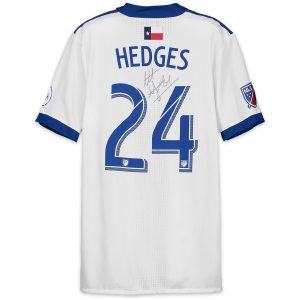 Matt Hedges Autographed Match-Used White #24 Jersey on April 14, 2018