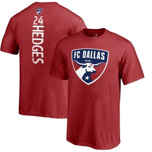Matt Hedges FC Dallas Fanatics Branded Youth Backer Name & Number T-Shirt – Red