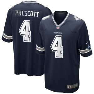Men's Dallas Cowboys Dak Prescott Nike Navy Game Jersey